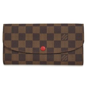 ルイヴィトン N63544 財布 ファスナー長財布 ダミエ ポルトフォイユ・エミリー ルージュ 新型|come