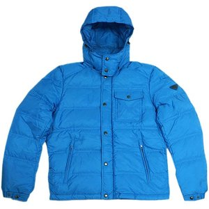 プラダ ダウン ジャケット SGH573 メンズ ジップアップ フード付き ナイロン AZZURO アズーロ ブルー 48サイズ アウトレット |come