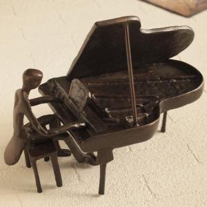 ブラス オブジェ ミュージシャンピアノ アンティーク インテリア雑貨|comfy-shop
