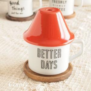 カップ カフェ風食器 リトルハウス コーヒードリップセット キッチン雑貨 レッド|comfy-shop