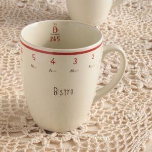 マグカップ カフェ風食器 ビストロ マグカップ レッドライン キッチン雑貨|comfy-shop