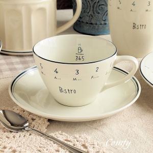 キッチン雑貨 カフェ風食器 ビストロ カップ&ソーサー キッチン雑貨|comfy-shop