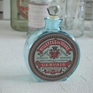 インテリア雑貨 クラシカル ガラスボトル ブルー アンティーク調|comfy-shop