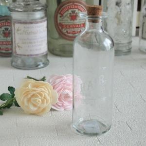 インテリア雑貨 クラシカル ガラスボトル ホワイトロゴ アンティーク調|comfy-shop