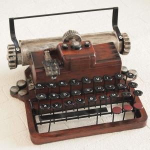 オブジェ 置物 インテリア雑貨 ブラウン タイプライター アンティーク雑貨 レトロ|comfy-shop