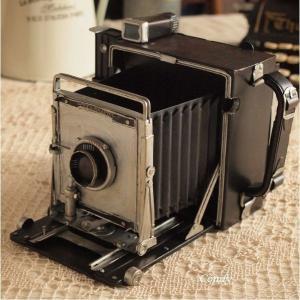 オブジェ 置物 インテリア雑貨 ブリキ カメラ アンティーク雑貨|comfy-shop