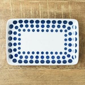 藍ブルー 21cm長角皿 ラウンド 北欧調|comfy-shop
