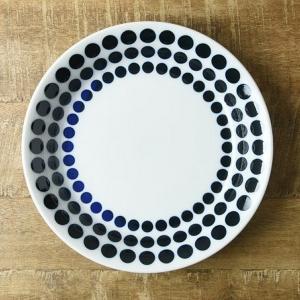 藍ブルー 22cmカレー&パスタ皿 ラウンド 北欧調|comfy-shop