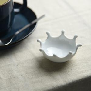 深山 アミューズ ミルククラウンdrops 白磁 豆小皿|comfy-shop