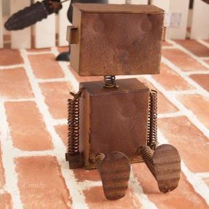 オブジェ 置物 インテリア雑貨 ブリキ ロボット アンティーク雑貨|comfy-shop