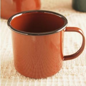 マグカップ ホーロー雑貨 ホーロー マグカップ ブラウン 北欧雑貨 カントリー雑貨 キッチン雑貨 ナチュラル雑貨|comfy-shop