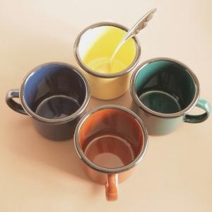 ホーローマグカップ デミタスマグ グリーン ホーロー雑貨|comfy-shop