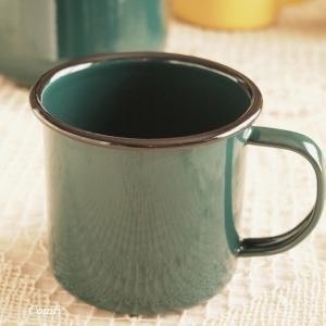 マグカップ ホーロー雑貨 ホーロー マグカップ グリーン 北欧雑貨 カントリー雑貨 キッチン雑貨 ナチュラル雑貨|comfy-shop