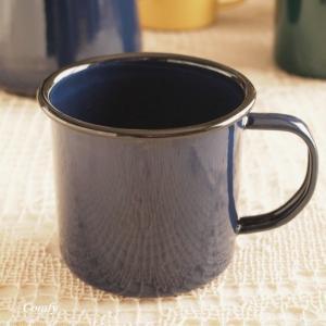 マグカップ ホーロー雑貨 ホーロー マグカップ ネイビー 北欧雑貨 カントリー雑貨 キッチン雑貨 ナチュラル雑貨|comfy-shop