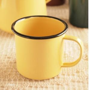 マグカップ ホーロー雑貨 ホーロー マグカップ イエロー 北欧雑貨 カントリー雑貨 キッチン雑貨 ナチュラル雑貨|comfy-shop