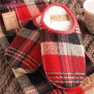 ルームシューズ 冬 防寒対策 ふわふわもこもこスリッパ レッド 室内履き|comfy-shop