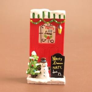 クリスマス雑貨 ミニチュアハウス ルージュドア|comfy-shop