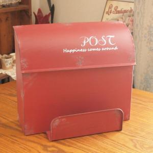 郵便ポスト おしゃれ 壁掛けブリキ郵便受け メールボックス L レッド|comfy-shop