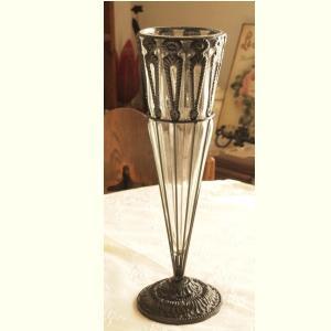 ガラス 花瓶 アンティーク調 フラワーベース インテリア雑貨 コウンL|comfy-shop