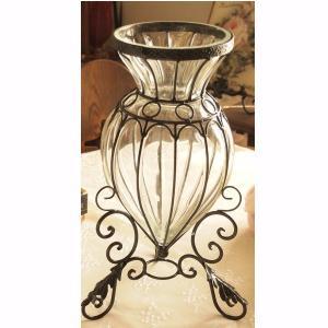 ガラス 花瓶 アンティーク調 フラワーベース インテリア雑貨 アラベスク|comfy-shop