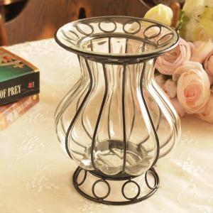 ガラス 花瓶 アンティーク調 フラワーベース インテリア雑貨 サークル|comfy-shop