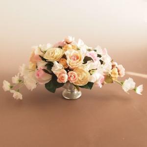 アーティフィシャルフラワー アレンジメントフラワー ラナンキュラス ローズ ピーチピンク ミックス 造花 インテリア雑貨 comfy-shop