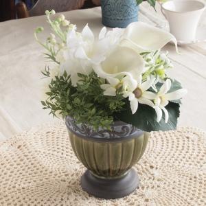 アーティフィシャルフラワー 造花 インテリア雑貨 雑貨屋カンフィ オリジナル アレンジメント ホワイト|comfy-shop