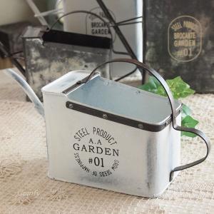 ガーデニング雑貨 ジョウロ ブリキ缶 S ホワイト|comfy-shop