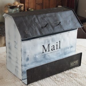 郵便ポスト おしゃれ 壁掛けブリキ郵便受け メールボックス レクタングル|comfy-shop