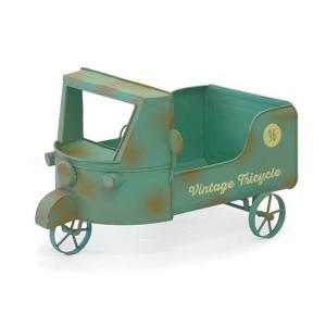 ブリキ ガーデニング雑貨 トライスクル トラック プランター 植木鉢 鉢カバー|comfy-shop