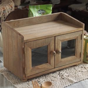 キッチン雑貨 スパイスラック キャビネット 1段 ブラウン シェルフ アンティーク調 キッチン|comfy-shop