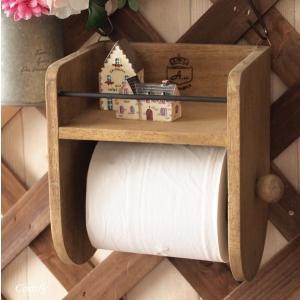 アンティーク調 木製 トイレットペーパーホルダー おしゃれ ウッド|comfy-shop