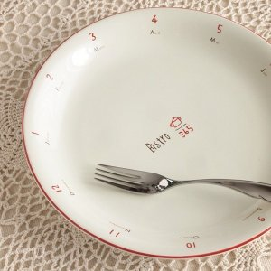 パスタ皿 カフェ風食器 ビストロ パスタプレート レッドライン キッチン雑貨|comfy-shop