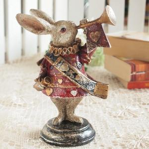 インテリア雑貨 不思議の国のアリス トランプウサギ S アンティーク雑貨 インテリア|comfy-shop