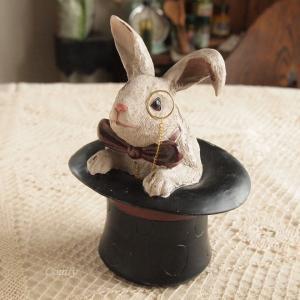 インテリア雑貨 トランプウサギ アリス・ラビットケース アンティーク雑貨 インテリア|comfy-shop