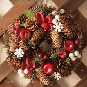 クリスマスリース スノーボール リース インテリア雑貨|comfy-shop