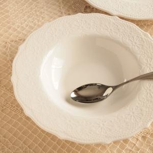 スーププレート 22cm レリーフ アンティーク調 クラッシックスタイル カフェ風食器 ムーラン|comfy-shop