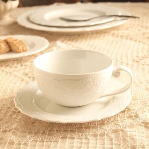 カップ&ソーサー レリーフ アンティーク調 クラッシックスタイル カフェ風食器 ムーラン|comfy-shop