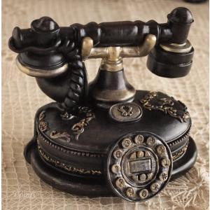 インテリア雑貨 ミニチュアオーナメント 電話 貯金箱 アンティーク雑貨|comfy-shop