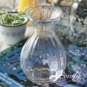 ガラス 花瓶 アンティーク調 フラワーベース インテリア雑貨 クリア・ガードベース|comfy-shop
