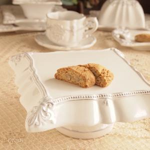 カフェ風食器 クラッシックスタイル レリーフ ケーキスタンド フルール アンティーク調|comfy-shop