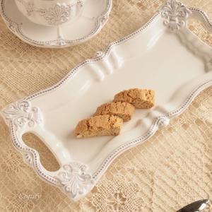 カフェ風食器 クラッシックスタイル レリーフ サンドイッチプレート フルール アンティーク調|comfy-shop