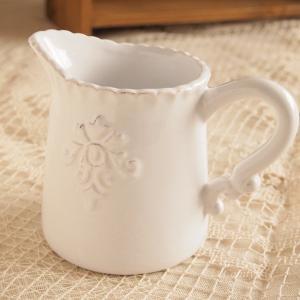 ミルククリーマー レリーフ アンティーク調  カフェ風食器 クレスト|comfy-shop