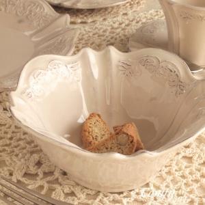 カフェ風食器 クラッシックスタイル レリーフ ボウル オートミール アンティーク調|comfy-shop