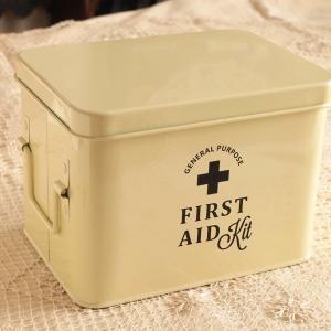 救急箱 ケース おしゃれ 薬箱 ファーストエイド スティール ファーマシーボックス フェールS|comfy-shop