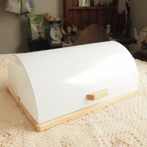ブレッドケース ホームステッド ローラートップ ブレッド缶 ウッドベース キッチン雑貨|comfy-shop