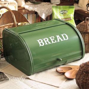 北欧雑貨 アンティーク調 ブレッド缶 グリーン カントリー雑貨 キッチン雑貨 |comfy-shop