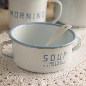 ホーロー雑貨 ホーロー ホームステッド スープマグカップ 琺瑯 北欧雑貨 カントリー雑貨 キッチン雑貨 ナチュラル雑貨 |comfy-shop