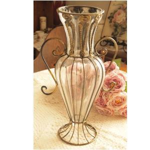 ガラス 花瓶 アンティーク調 フラワーベース インテリア雑貨 リリアン ゴールド|comfy-shop