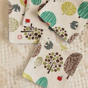 キッチン雑貨 森 コースター ハンドメイド 4枚組|comfy-shop